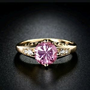 Jewelry - 18k gold filled pink ring Size 7 and 9